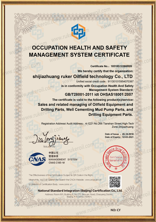 Occupation health and safety management